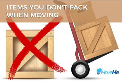 Items you don't move
