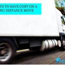save cost on a long distance moving