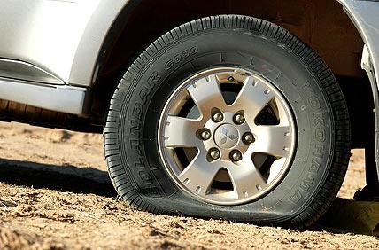 deflated tyre
