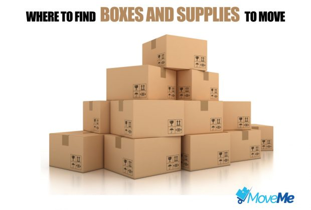 boxes and supplies